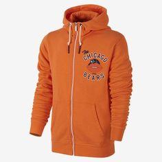 Nike Chicago Bears Retro Full Zip Hoodie - Orange