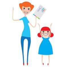 Perhe Kotoinen | Design and illustration: Elina Holley | Client: Kuvaverkko | #illustration #character #cartoon #family #figure #ElinaHolley