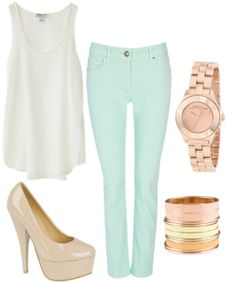 Mint & Rose Gold