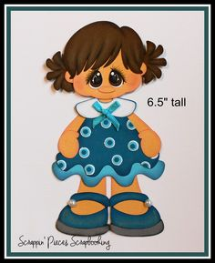 Girl in Summer Dress Paper Piecing for Scrapbooking Pages Embellishments PY LOT