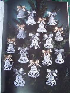 USA Free S 16 Crocheted Bells Patterns Christmas Ornaments Shower Favors Weddings Anniversaries