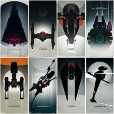 All my LEGO Star Wars spaceship posters so far.