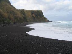 Estadias para férias ( Açores , Portugal ) : Fotos da Ilha de São Miguel ( Notificações ) , Praia da Viola Lomba da Maia