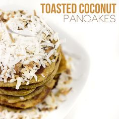 Toasted Coconut Pancakes - Bob's Red Mill Gluten Free Almond Flour & Coconut! :-)