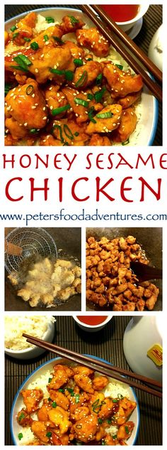 ... sweet and sticky family favourite. Easy Honey Sesame Chicken