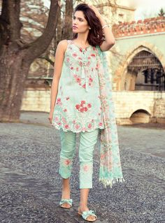 Buy Sea Green Cambric Cotton Pant Style Suit 118612 online at lowest price from vast collection at m.indianclothstore.c.