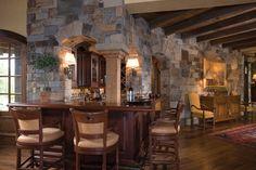 Castle Rock Ledge from Montana Rockworks #castle #rock #stone #natural #bar #kitchen #gray #tan #brown
