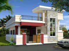 If you are in deep search for some quality real estate agents who offer plots for sale in Shamshabad at some affordable price range, then . Flat Roof House, House Deck, Front Elevation Designs, House Elevation, Duplex House Design, House Front Design, Small Modern House Plans, Rooftop Terrace Design, One Storey House