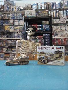 JEB admiring the model skeletons in Rommel's Rod