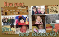 My new Fav type of pages...easy to make and they hold more pics than normal layouts
