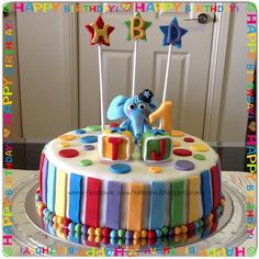 Elephant Birthday Cake.  www.facebook.com/cakeanddessertlovers