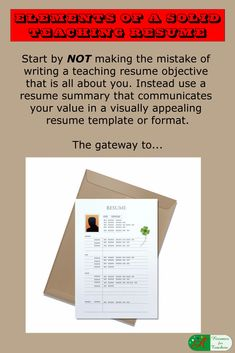 Educators Are You Tired Of Figuring Out The Art Of Resume Writing