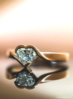 ca6856961dee Diamond and rose gold heart ring (Green Lake Jewelry Works)