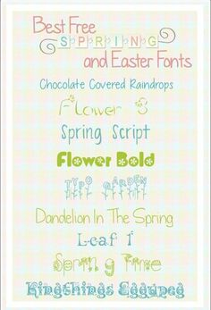 Free Fonts Download Perfect for Spring