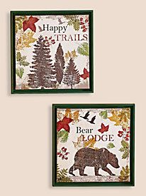 Answer the call of the wild with these outdoor-inspired pieces ~ Lodge Wall Art from Blair