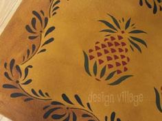 Early American Pineapple Floor cloth #3