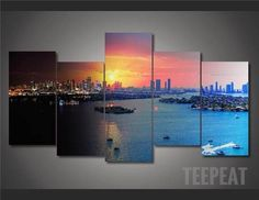 Miami - 5 Piece Canvas