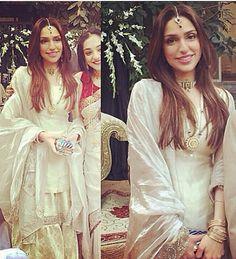 Pakistani gharara in white & gold by Studio S Designs.