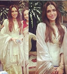 Pakistani gharara in white & gold by Studio S Designs.