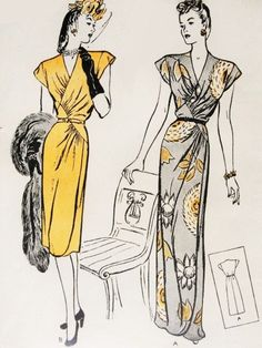 40s Gorgeous Evening Gown Pattern Butterick door SoVintageOnEtsy