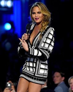 Balmain - See Every Outfit Chrissy Teigen Wore to Host the 2015 Billboard Music Awards | InStyle.com