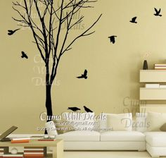 Bare tree and birds