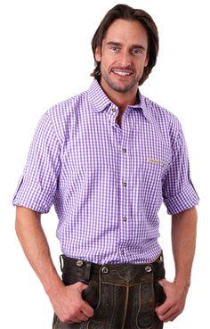 Stockerpoint Trachtenhemd Campos2 Blockkaro lila