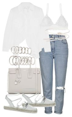 """""""Untitled #19747"""" by florencia95 ❤ liked on Polyvore featuring Topshop, Marques'Almeida, Forever 21, Yves Saint Laurent, Humble Chic and FUZZI"""