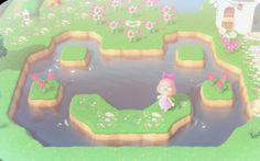 Animal Crossing Funny, Animal Crossing Guide, Animal Crossing Villagers, Frog Design, Pond Design, Pond Animals, Cute Animals, Island Theme, Motifs Animal