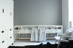 all white room for twins