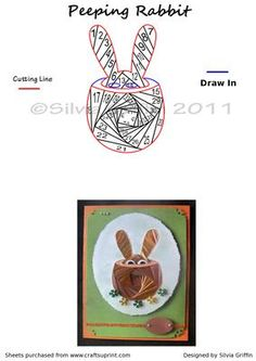 Peeping Rabbit  on Craftsuprint designed by Silvia Griffin - Surprise ! A perfect card to surprise all your loved ones on Easter or any time of the year. Thank you for considering my creations. - Now available for download!