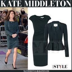 Kate Middleton in green jacket and green dress