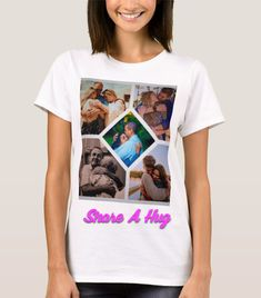 Share a hug whenever you can. It shows you care. Say Something Nice, Hug, T Shirt, Women, Fashion, Supreme T Shirt, Moda, Tee, Women's
