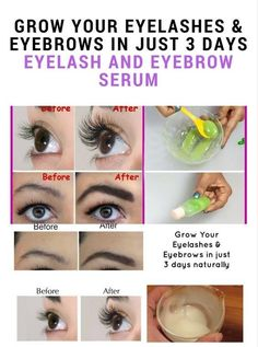 A simple DIY serum to grow your eyelashes and eyebrows really fast. This is a natural method hence it won't irritate your eyes.  Ingredients Aloe Vera – 1 Teaspoon Organic Castor Oil – 2 Teaspoon V…