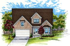 Elevation of Colonial   Country   Traditional   House Plan 56406