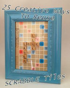 25 Creative Ways to Reuse Scrabble Tiles, DIY, Crafts