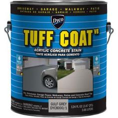 Dyco Paints Tuff Coat Tintable Tint Base Solid Concrete Stain (Actual Net Contents: oz) at Lowe's. Tuff Coat concrete stain/enamel is a low VOC water reducible acrylic concrete stain with superior film properties, formulated to provide a low sheen and Concrete Floor Coatings, Concrete Dye, Acid Stained Concrete, Concrete Stone, Concrete Floors, Flat Interior, Interior And Exterior, Transparent Concrete, Romania