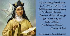 www.facebook.com/thecatholicsignal Saint Teresa Of Avila, Eucharist, Prayer Cards, Catholic Saints, Blessings, Christianity, Prayers, Faith, Inspirational