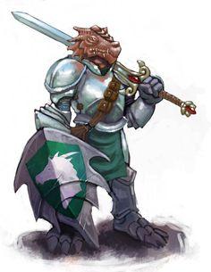 Dragonborn Paladin by ~Scarecrovv on deviantART