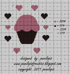Penelopis' cross stitch freebies: Cos slodkiego.../Something sweet...