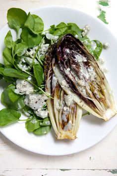 Grilled treviso, watercress & blue cheese