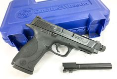 The Smith & Wesson M&P 45 Threaded Kit (threaded barrel installed, standard barrel shown below)