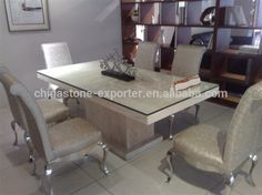 dining tables marble cladding and glass - Google Search