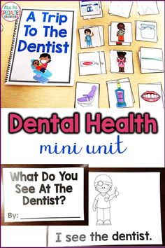 Just what you need to teach students about what happens at the dentist's office. There is a story book, an easy reader, vocabulary cards to help learn the language and a memory game. Perfect for teaching community helpers, dental health, speech therapy, special education, students with autism and kindergarten and first grade.