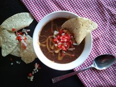 Spicy Black Bean Pale Ale Soup from Turnip & Bean! Ipa, Black Beans, Spicy, Soup, Cooking, Ethnic Recipes, Desserts, Kitchen, Tailgate Desserts