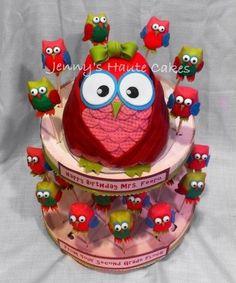 Owl Cake and Cake Pops  Cake by Jenny Kennedy  @Taylor Reid