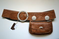 Brown Leather Hip Bag, bum bag, fanny pack, travel pouch, belt pocket, handmade on Etsy, $90.00