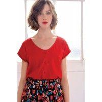 Tee shirt hilastik fraise -  100% coton pima  - des petits hauts