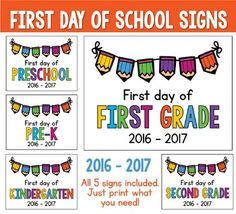 9 1st Day of School Signs