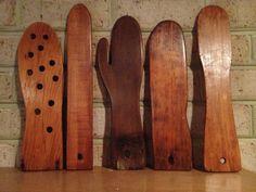 Wooden Mitten Stretchers